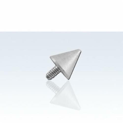2mm or 4mm Silver Steel Cone Dermal Surface Anchor Internally Threaded Jewelry