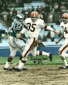 GALEN FISS CLEVELAND BROWNS SIGNED AUTO 8x10 PHOTO W/COA 1964