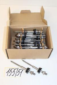 Modest Set 24x Lorenz Stockschraube 160mm Holz 8x75 M10x30 Für Photovoltaik Nr Solarenergie 155/51
