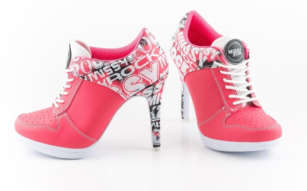 MISSY ROCKZ Sport High Heels STREET ROCKZ flamingo pink mit 10,5 cm Absatz