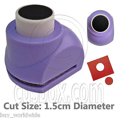 Circle Hole Round Paper Edge Craft Scrapbooking Punch Stamp Die Cut Cutter 1.5cm
