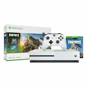 Details about Microsoft 234-00703 Xbox One S 1TB Fortnite Bundle, White