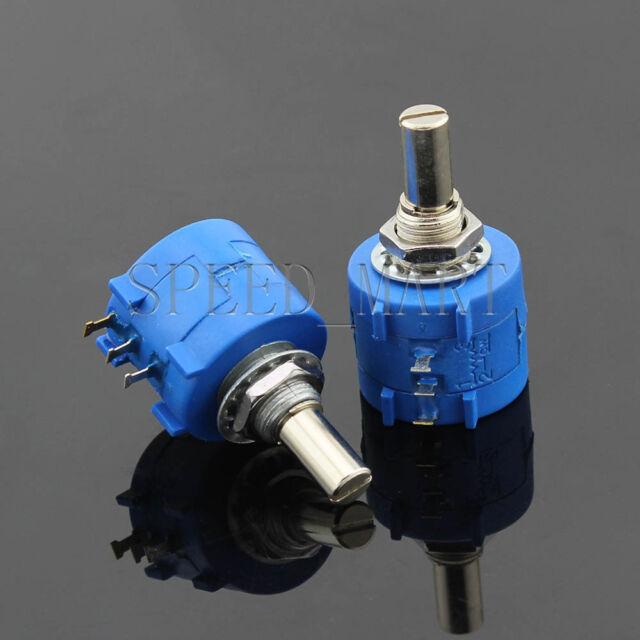 2 X 50K Ohm 3590S-2-503L Rotary Wirewound Precision Potentiometer Pot Multiturn