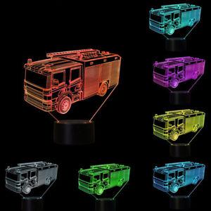 EE-DV-3D-Fire-Engine-Kids-Bedroom-Color-Change-LED-Night-Light-Desk-Lamp-Decor