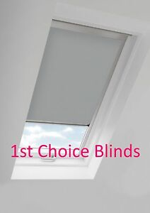 GREY-S06-Thermal-Blackout-Roof-Roller-Blind-for-Velux-windows-Fakro-Rooflite