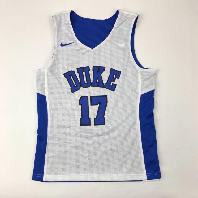 fb471faf0126 New Nike Boy s M Duke Blue Devils Reversible Basketball Jersey Blue White   17