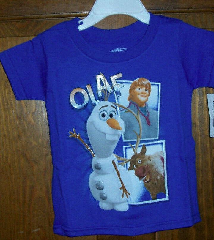 Disney Frozen T-Shirt Frozen Visage Olaf Blanc//Noir