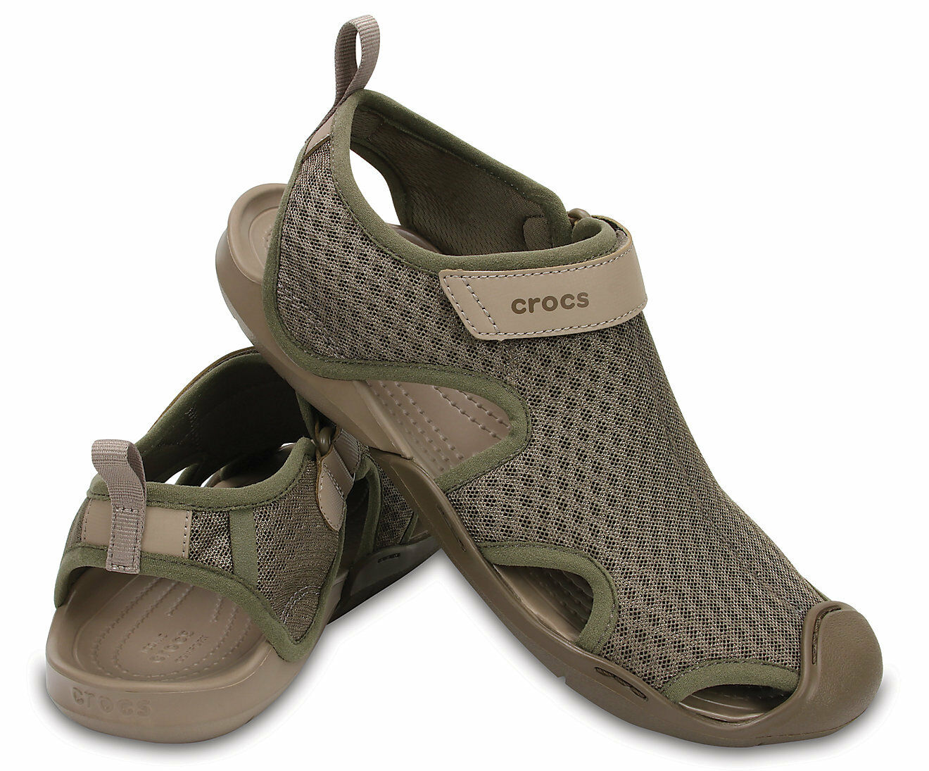 Crocs Swiftwater Mesh Water shoes Sandals Walnut Sz 8 NWT