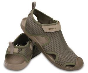 3e90467bd20e Image is loading Crocs-Swiftwater-Mesh-Water-Shoes-Sandals-Walnut-Sz-