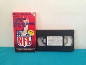 Les-moments-les-plus-embarassant-de-la-NFL-VHS-tape-amp-sleeve-RENTAL-FRENCH