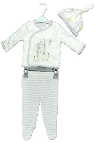 Babies Boy Girls Babygrow Beige Mum/'s No One 3 Piece All in One Gift Set 0-6 Mth
