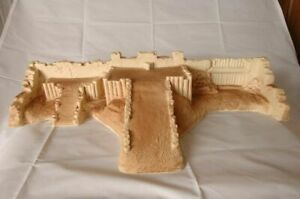 Conte-Barzso-Playset-Alamo-Fort-Rear-Redoubt-With-Ramps-un-Painted-BIG-24X14X5
