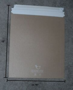 "25 Pack 17x21/"" PHOTO Rigid MAILER ENVELOPE STAY FLATS PLUS WHITE Peel /& Seal"
