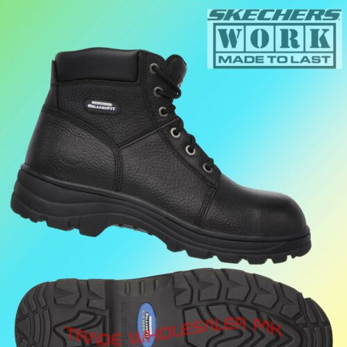 Facility Maintenance & Safety Skechers Work Relaxed Fit Workshire St Safety Boots 77009ec Mens Memory Foam
