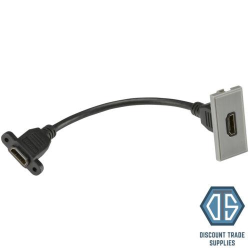 BG en acier brossé gris Euro données Module insère HDMI TV SAT Cat5 Cat6 USB Media