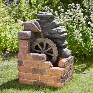 Solar Power Outdoor Heywood Mill Water Fountain Feature Garden