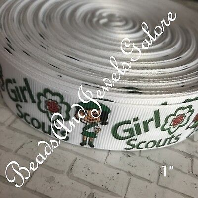 Girl Scouts ribbon Girl Scout cookies Cookie ribbon scouts Girl Scout bows-1/""