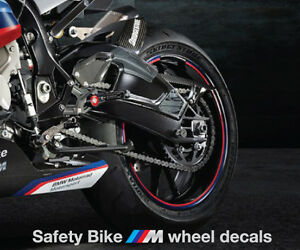 BMW Srr Safety Bike Wheel Decals Rim Stripes Hp Stickers - Bmw decals for wheels