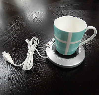 Electric Mug Cup Warmer - Keep Coffee Tea Soup Drinks Warm for Longer - Plug In