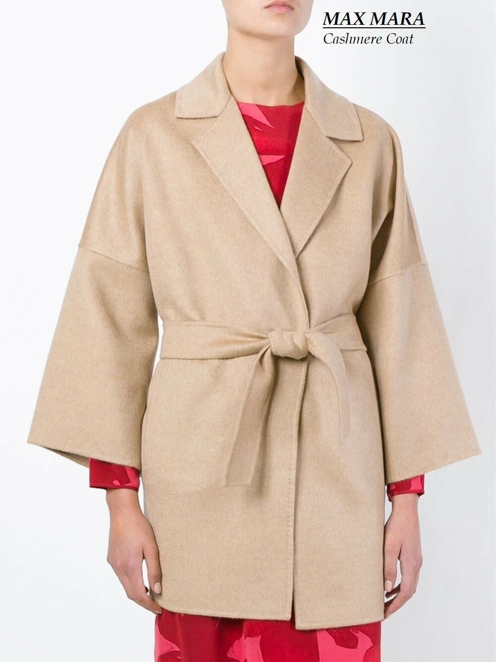 New MAX MARA CASHMERE Coat mod.Ravello size 12 USA_ 14 GB_ 42 D_ 46 I_44 F