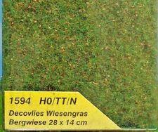 Heki 1594 HEKI decovlies Wiesengras NEU /& OVP Bergwiese 28 x 14 cm