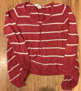 f5e3996013 PINK Republic Women s Sweater Top V-Neck Size Large Casual Sweater ...