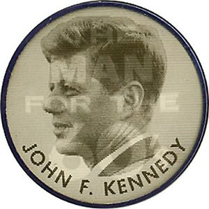 1960 John F. Kennedy MAN FOR THE 60's Flasher Pinback (4183)