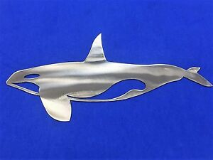 Details About Orca Whale Aluminum Metal Wall Art Skilwerx 14 X 8 Nautical