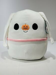 "Squishmallows Nightmare Before Christmas ZERO 12"" NWT Halloween 2021 Ghost Dog"