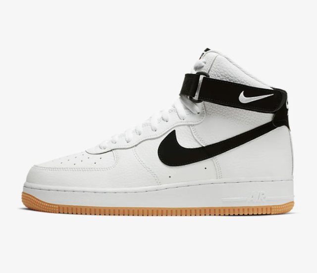 best quality for whole family official Nike Air Force 1 One High 07 LV8 White Black Gum Brown Medium AT7653-100  Size