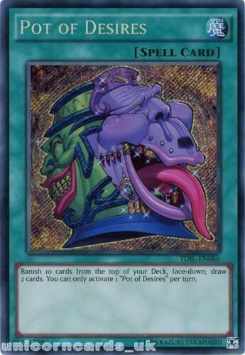 TDIL-EN066 Pot of Desires Secret Rare UNL Edition Mint YuGiOh Card