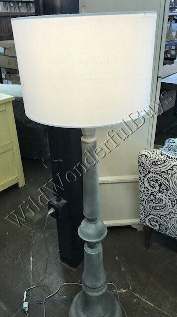 Pottery Barn Brookings Floor Lamp Gray 60h Light Lampshade Included