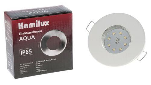KAMILUX® Einbaustrahler 30mm flach Bad LED Modul Feuchtraum IP65 230V Außen 5W