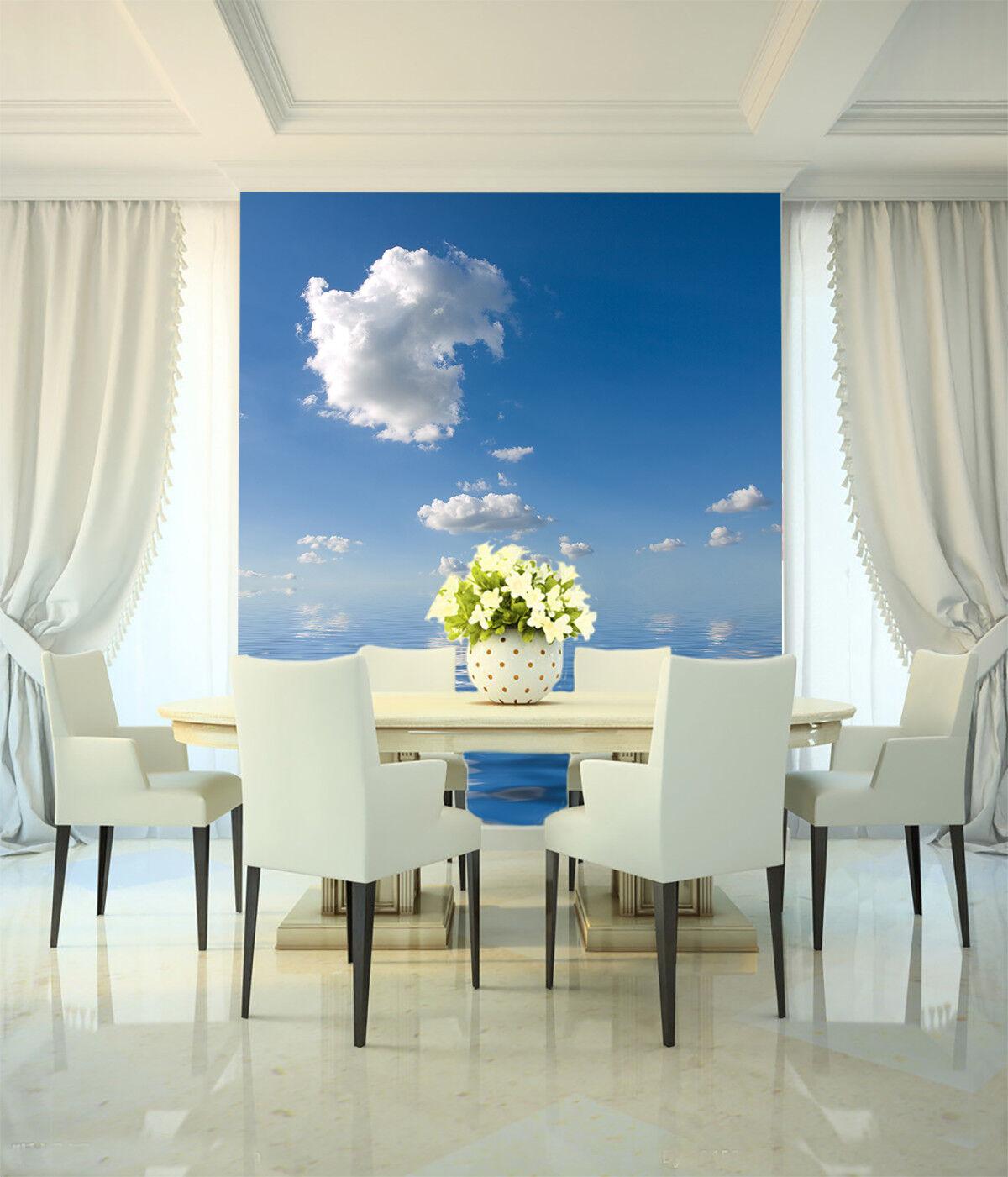3D Weiße Wolken Meer 85 Tapete Wandgemälde Tapete Tapeten Bild Familie DE Summer