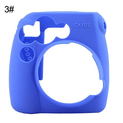 WR/_ For Polaroid Instax Mini 8 9 Silicone Solid Color Camera Case Protective Cov