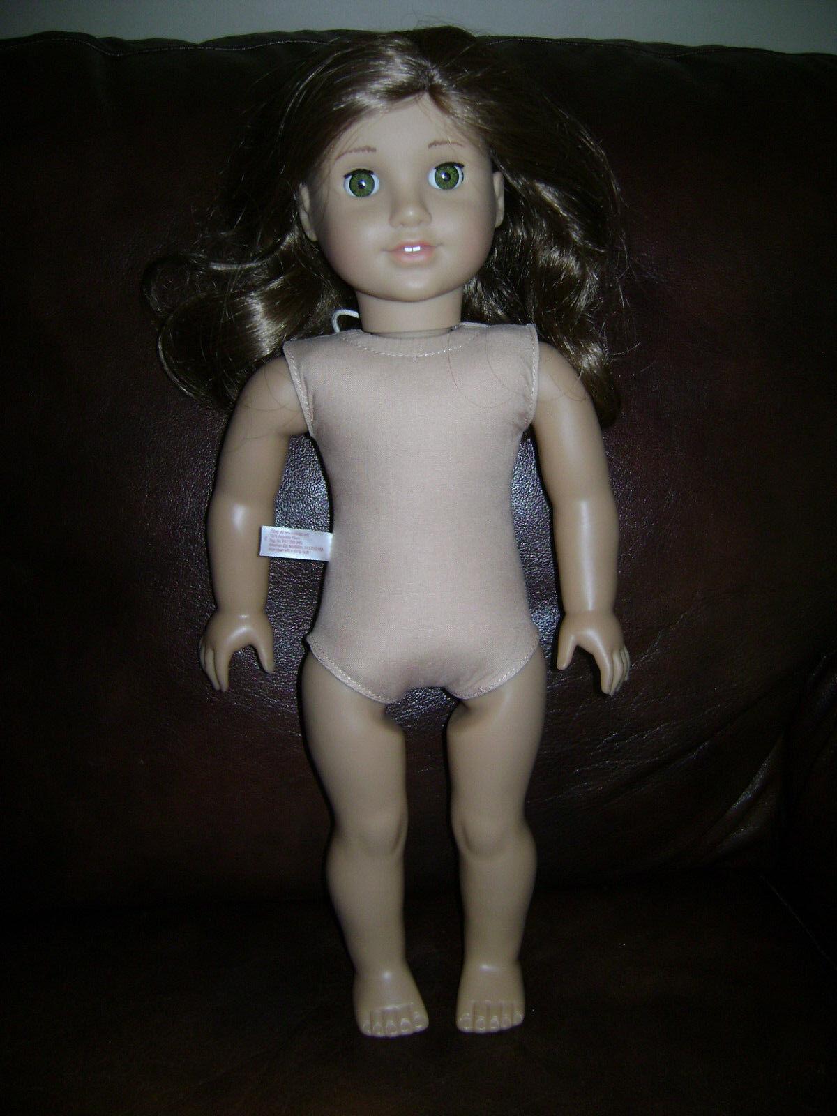American Girl Doll 18  histórico Rebecca desnuda Cabello Castaño Ojos verdes