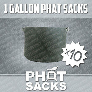 "(10) 1 GALLON FABRIC GROW POTS SMART AIR PRUNE DIRT CONTAINER 5.5"" x 7"" BAGS"