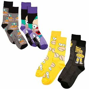08bf7188c4e9b New Mens 2 PK Official The Simpsons HOMER KRUSTY Stocking Filler ...