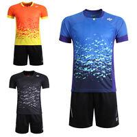 Free Shipping Men's Clothing Tops Tennis/badminton Clothes Shirts +shorts 3018b