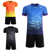 Free Shipping Men's Clothing Tops Tennis/badminton Clothes Shirts +shorts 3018b