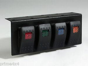 Four Switch Carling Contura Illuminated Under-Dash Universal Switch ...
