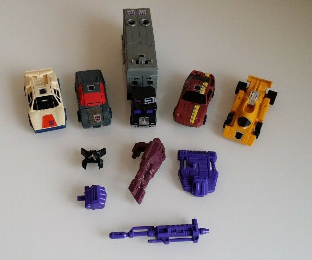 Transformer G1 Stunticons Motormaster desglose Deadend Dragstrip & Wild Rider