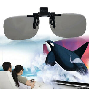 Details about Clip On 3D Glasses Circular Polarized Eye Lens Home 3D TV  Cinema Movie Film Imax