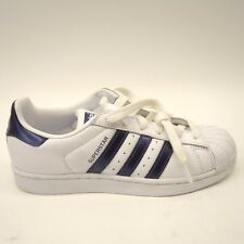edf3b41d4121 Adidas Womens Originals Superstar W CG5464 White Purple Metallic Shoes Size  6.5
