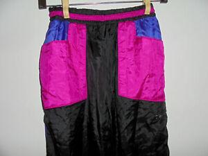 vintage-YBES-Nylon-Trainingshose-Ballonseide-Jogginghose-pants-oldschool-M-L