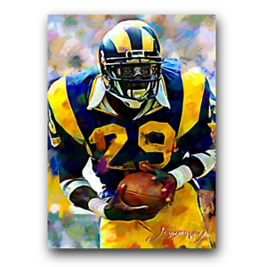 Eric Dickerson #14 Sketch Card Limited 48/50 Edward Vela Signed