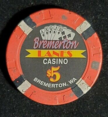 Renton 2002 free shipping $5 Billie/'s Casino Chip Washington