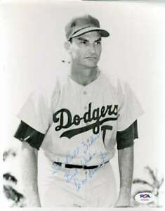 Don-Bessent-PSA-DNA-Coa-Hand-Signed-Rare-Dodgers-8x10-Photo-Autograph