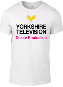 Yorkshire Television TV 1970 S Logo T-Shirt Rétro BBC Vintage British Regional W