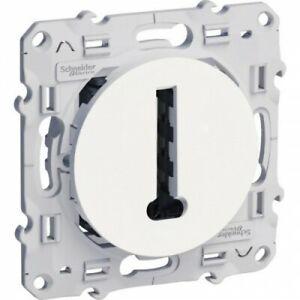 Prise de courant faible - Téléphone - Blanc - Odace SCHNEIDER
